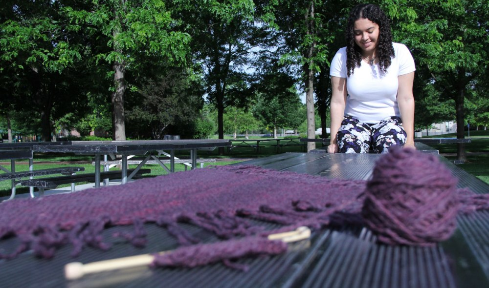 Shawl in the park.