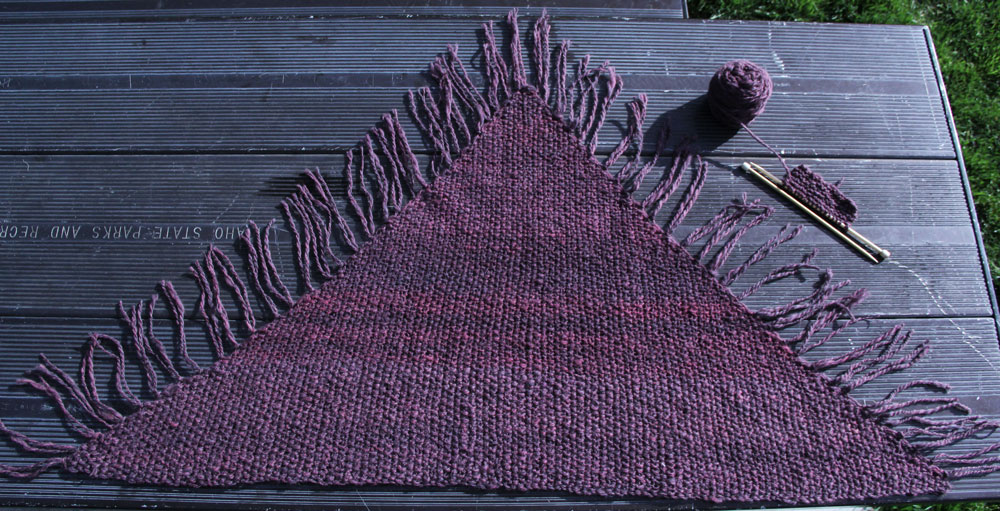 Handspun yarn and subtle colorways are showcased with this simple pattern.
